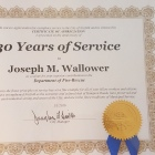 Retired Fire Capt. Joe...30 years of servide
