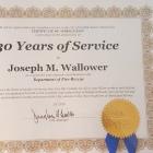 Retired Fire Capt. Joe...30 years of servide